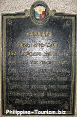 Lapu-Lapu Monument marker at Punta Engano